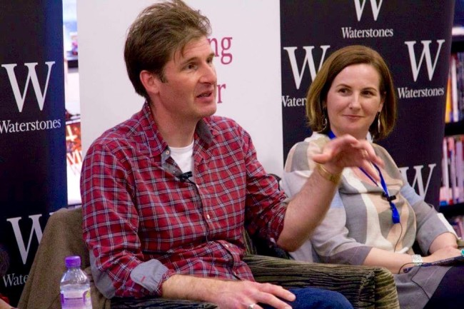 Adam Marek talking at the London Short Story Festival, Waterstones Piccadilly