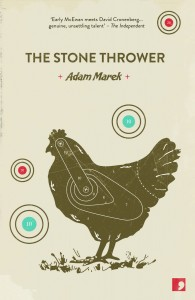 The Stone Thrower (UK edition) by Adam Marek, cover design
