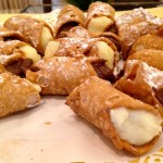 Cannoli at break time. I ate three and could have gone on forever, but stopped out of politeness.