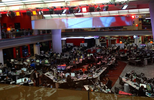 The Newsroom at BBC Broadcasting House