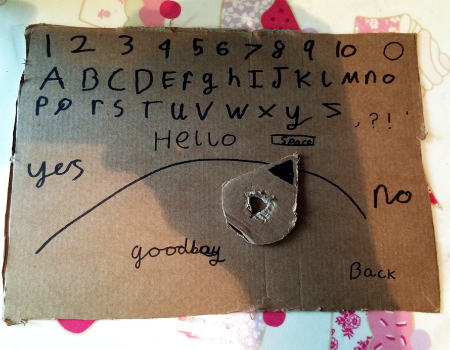 My son's Ouija board