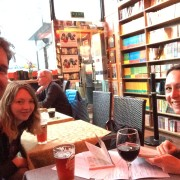 Adam Marek, Rachel Tresize, Zoe Gilbert at the Bookworm