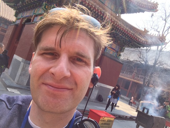 Adam Marek at the Lama Temple, Beijing