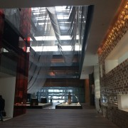 The lobby of the Opposite House Hotel, Beijing