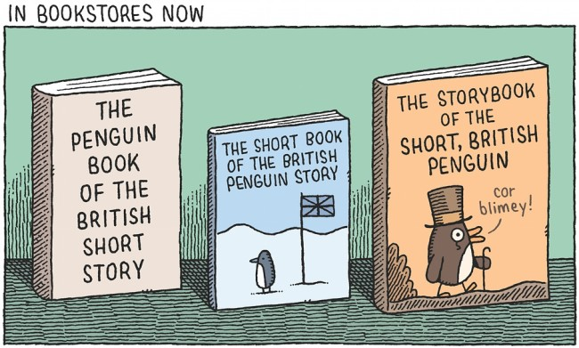 Tom Gauld Penguin Book of the British Short Story cartoon