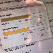 Daily word count target – the right way to do it?