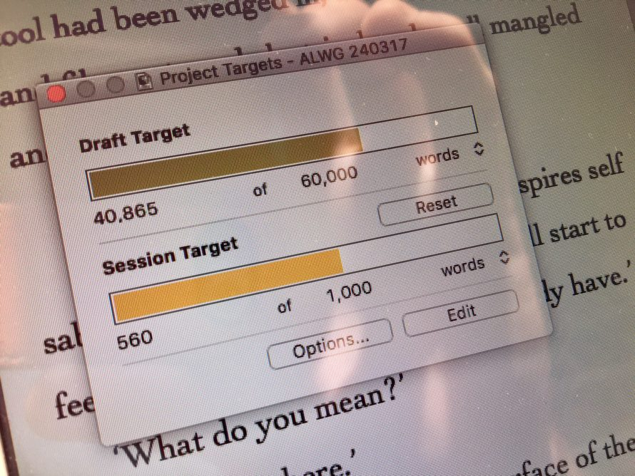 Daily word count target
